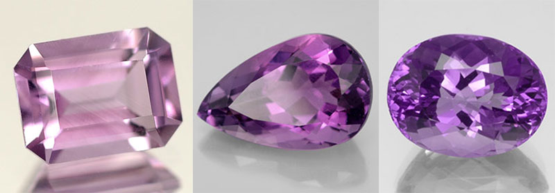 Amethyst. Gem. The ring and earrings with amethysts