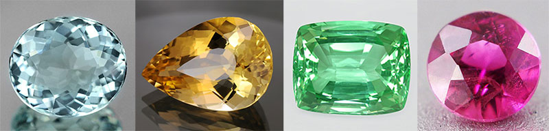 Beryl. Gem. Faceted beryl