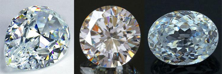 Фианит, джевалит, даймонсквай - искусственный драгоценный камень. Кольцо и серьги с фианитом