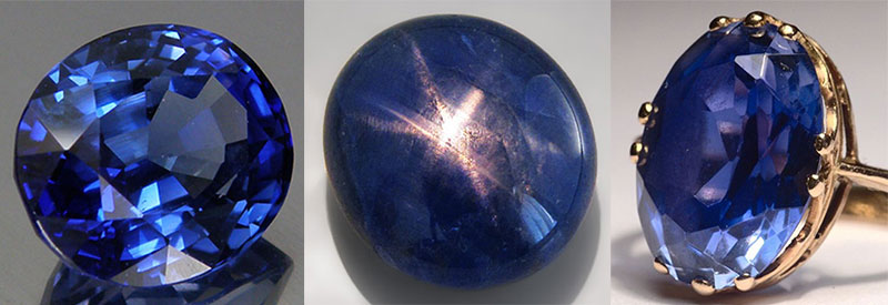 Sapphire. Gemstone. Crowned sapphire, star sapphire, sapphire ring