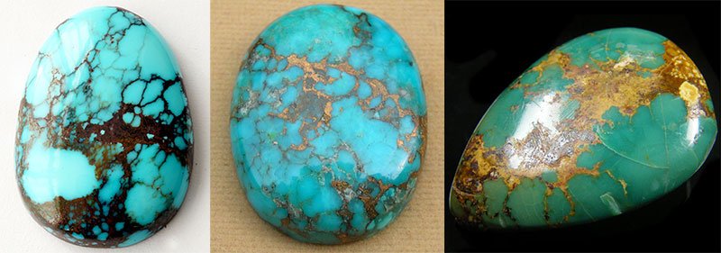 Turquoise. Gem. Decorated with green and blue turquoise